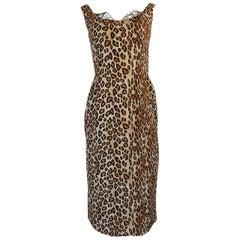 F/W 2005 Alexander McQueen Runway Leopard Print Dress