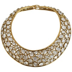 Goossens Paris Rock Crystal Statement Torque Necklace