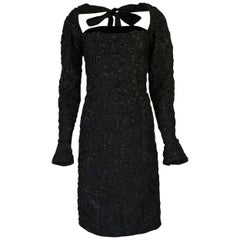 Tom Ford for Yves Saint Laurent Runway Textured Dress, F/W 2002