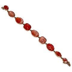 Goossens Paris Pink/Salmon Tinted Rock Crystal Bracelet