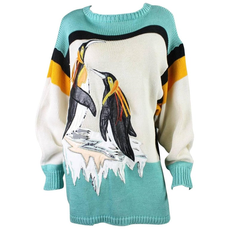 1980's Szato Sweater with Penguin Applique
