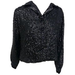 Black All-Over Sequin Jacket, 1950s