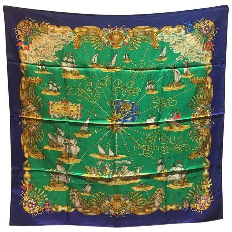 Hermes Vintage Voiles de Lumiere Silk Scarf