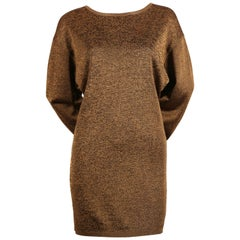 1980's AZZEDINE ALAIA bronze tunic dress
