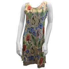 Chanel Multi-color Print Silk Dress