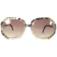 New Vintage Ted Lapidus Paris Blue Gold 1970 Sunglasses France