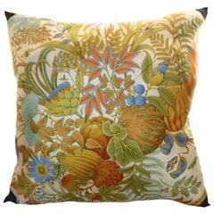 "Vintage Salvatore Ferragamo Scarf Pillow Large 21""  iwj4484-1"