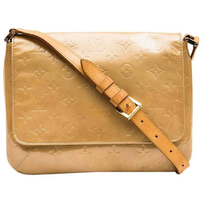 Louis Vuitton Bag in Beige Patent Monogram Leather