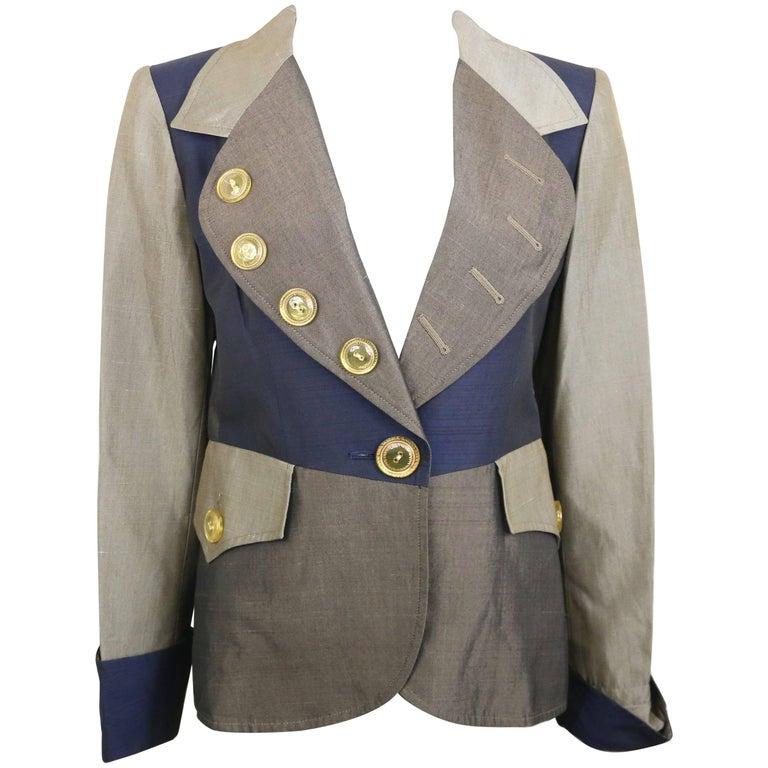 Christian Lacroix Colour Blocked Jacket For Sale