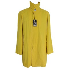 Nwt Burberry vintage yellow cotton wool coat men's trench Collington size 50 it