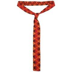Exotic 1960's Orange Skinny Square Men's Necktie