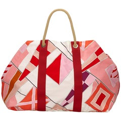Hermes Multi Colours Rapeaux Au Vent Cotton Tote Bag