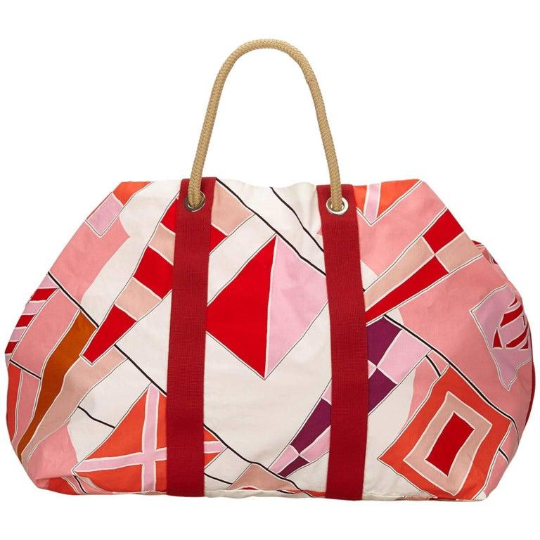 Hermes Multi Colours Rapeaux Au Vent Cotton Tote Bag