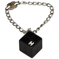 "Chanel Black ""CC"" Resin Cube Bracelet"