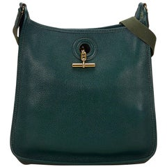 Hermes Green Leather Vespa PM Shoulder Bag