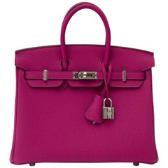 Hermès Birkin 25 Rose Pourpre PHW