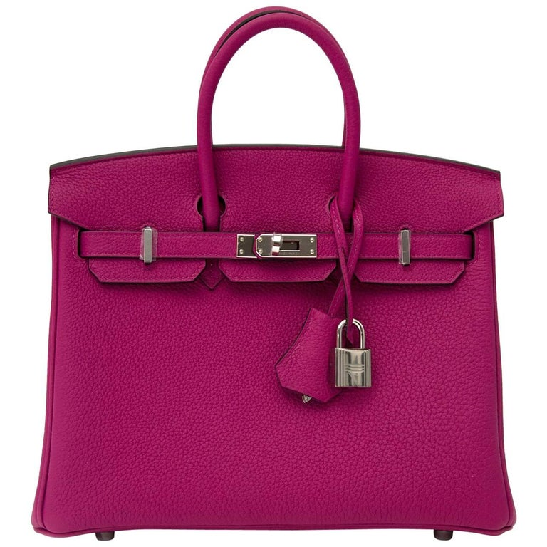 Hermes Birkin 25 Rose Pourpre Phw For Sale At 1stdibs