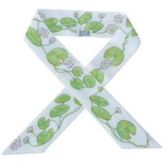 Hermès Silk Scarf Twilly Un Jardin Sur Le Nil Water Lily For Kelly Birkin Bag