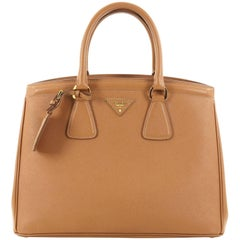 Prada Parabole Handbag Saffiano Leather Medium