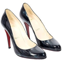 Christian Louboutin Black Iridescent Pumps