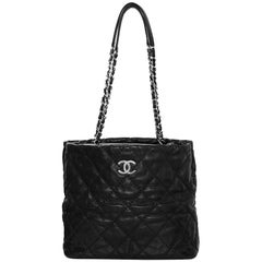 Chanel Black Quilted Ultimate Stitch Tote Bag with DB