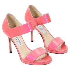 Jimmy Choo Coral Patent Leather Alana Sandals