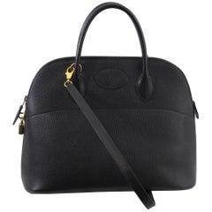 Hermes Vache Ardenne Black Bolide 36  Bag with Strap