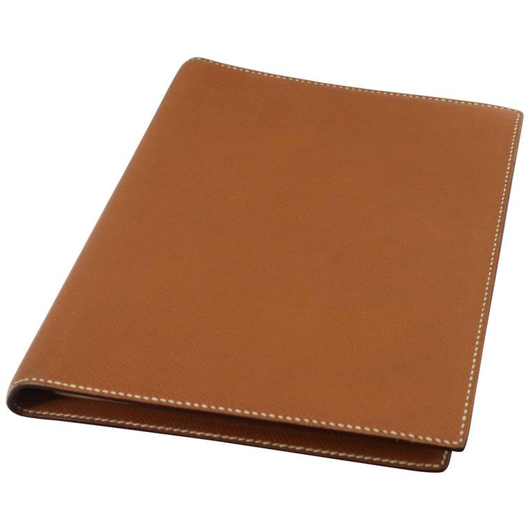 Hermes GM Gold Togo Leather Agenda or Notebook Cover, 2006