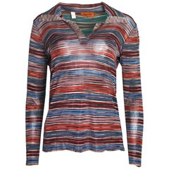 Missoni Multicolor Stripe Longsleeve Top Sz IT 48