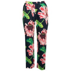 Stella McCartney Women's Multi Floral Print Slim Fit Trousers