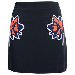 Stella McCartney Black Floral Embroidered Mini Skirts