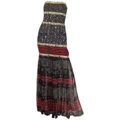 Oscar de la Renta Runway Silk Beaded Gown, Spring 2008