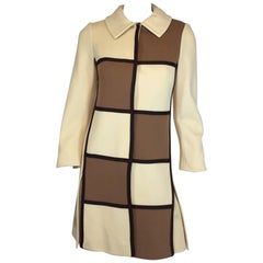 Lilli Ann Knitwear Vintage Grid Coat and Dress Set