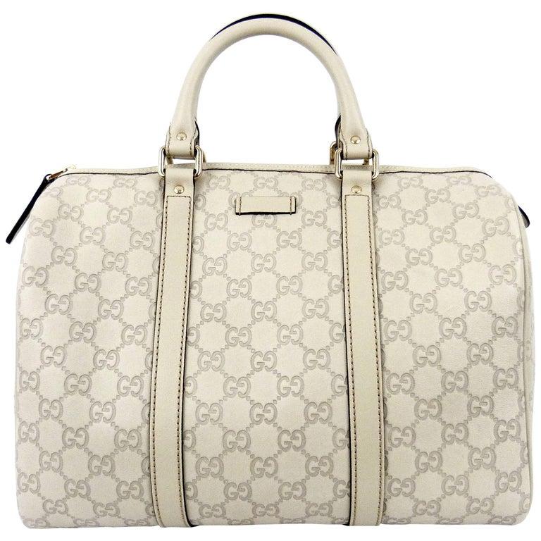 23b5910097a Gucci Ivory Guccissima Leather Joy Boston Bag at 1stdibs