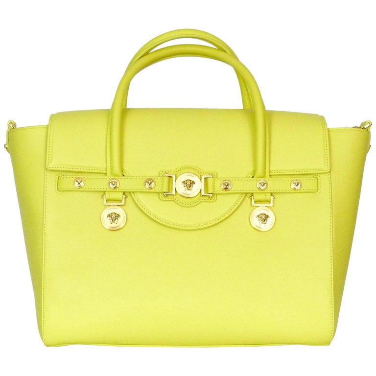 Versace Signature yellow large leather bag, 2015