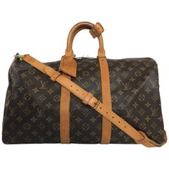 Louis Vuitton Monogram Keepall Bandoliere 45 Travel Bag