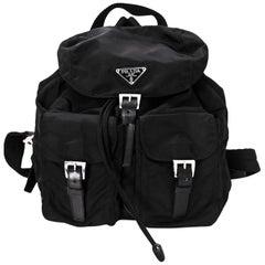 Prada Black Tessuto Backpack Bag with DB