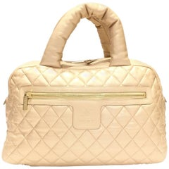 Chanel Paris HandBag Coco Cocoon Collection Gold Spolded Leather , 2009