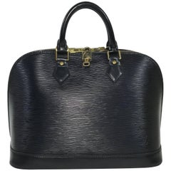 Louis Vuitton Epi Alma in Black Satchel