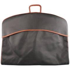 Vintage BOTTEGA VENETA Black & Brown Textured Leather Garment Bag