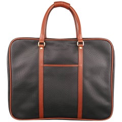 Bottega Veneta Vintage Black and Brown Textured Leather Garment Bag