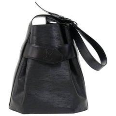Louis Vuitton Vintage Sac Depaule PM Black Epi Leather Shoulder Bag