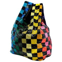 Ashish multicoloured sequined bag, current 2018 Collection