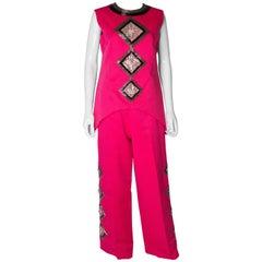 Valentina Vintage Pink Pant Suit