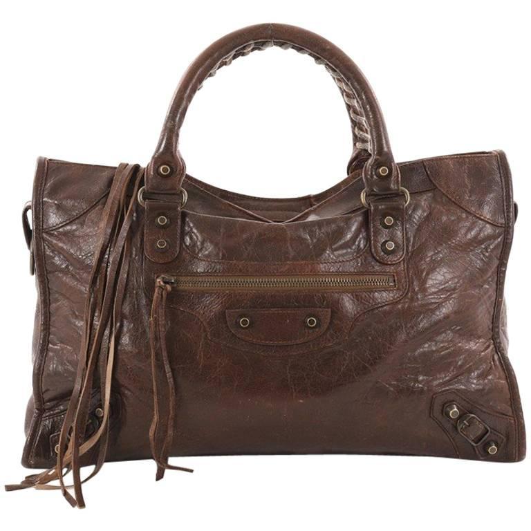Balenciaga City Classic Studs Handbag Leather Medium at 1stdibs f055b72914431