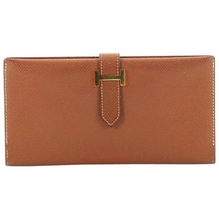 Hermes Bearn Wallet Courchevel Long