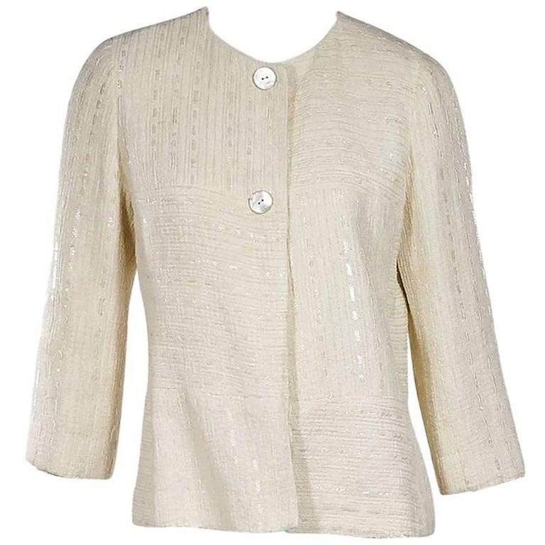 Chanel Vintage Cream Jacket