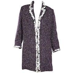 Chanel Vintage Purple Tweed Coat