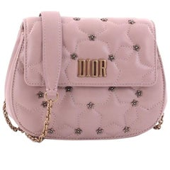 Christian Dior Dio(r)evolution Round Clutch with Chain Studded Leather Sm
