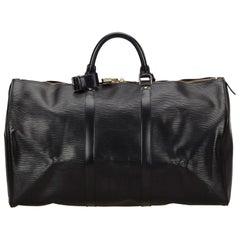 Louis Vuitton Black Epi Keepall 50